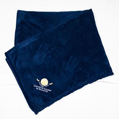 Chesterton Navy Fleece Blanket